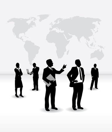 black business man: les gens d'affaires Illustration