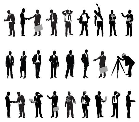 mensuration: silhouettes de gens