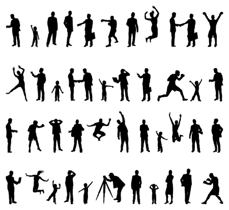 ko: people silhouettes Illustration