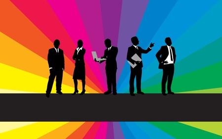 businessman shoes: business people background Illustration