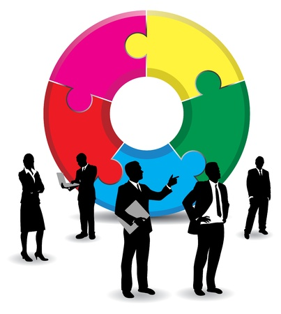 businesspeople background Stock Vector - 9263792