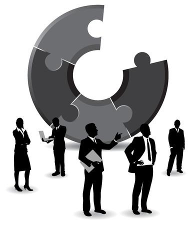 businesspeople background Stock Vector - 9263791