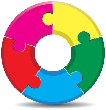 jigsaw background Stock Vector - 9263768
