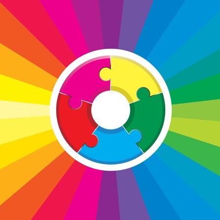 jigsaw rainbow Stock Vector - 9263790