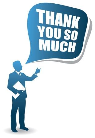 bye: business man speech bubble Illustration