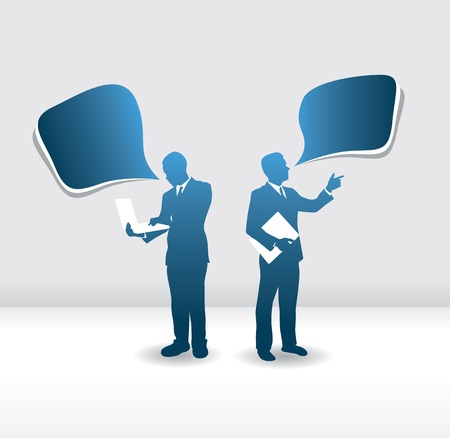 business people speech bubbles Vector