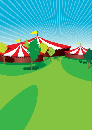 marquee tent: country fair background Illustration