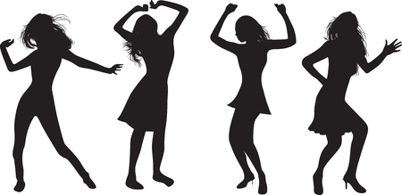 dancing girls Stock Vector - 9452185