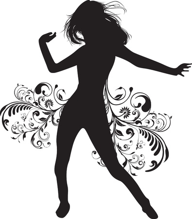 figure skater: dancing woman