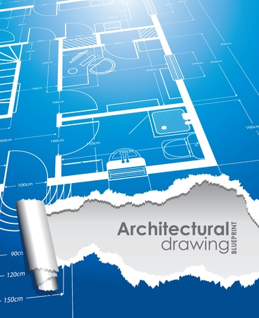 splitting: architectural drawing background Illustration
