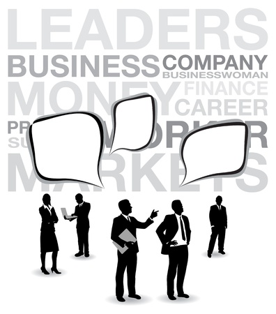 business people with speech bubbles Vector