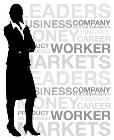 opportunity concept: businesswoman background