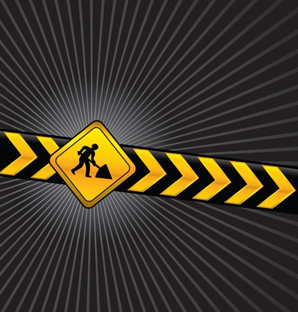construction sign: digging background