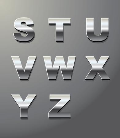 letras cromadas: las letras de metal brillante en cromo