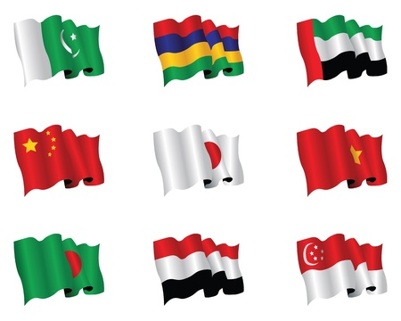 pakistani pakistan: asian flags