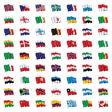 세계의 국기 일러스트