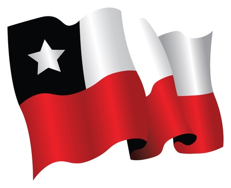 chilean national flag Vector