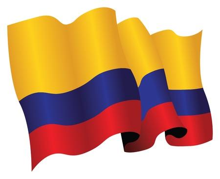 콜롬비아 깃발 일러스트