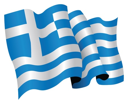 flapping: the greek national flag Illustration