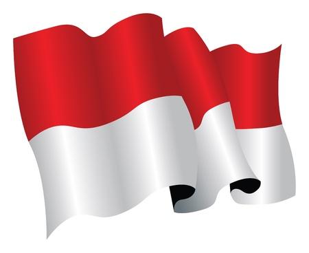 monaco national flag Vector
