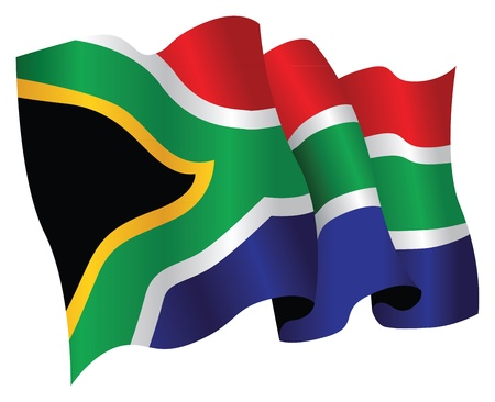 south african: south african flag Illustration