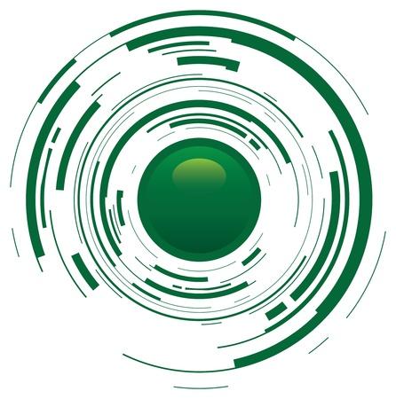 photo shoot: green abstract button