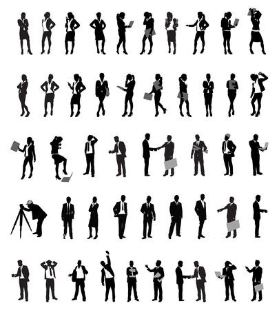 mensuration: un grand nombre de gens d'affaires Illustration