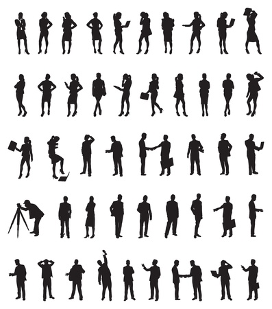 a large set of business people  Vector