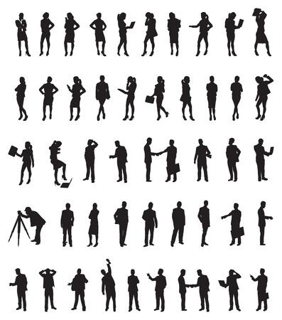 een groot aantal mensen uit het bedrijfsleven Vector Illustratie