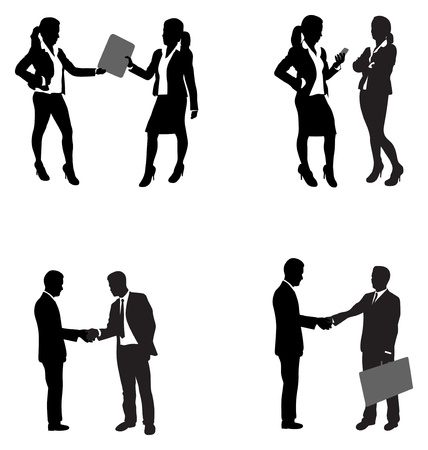 black handshake: business people shaking hands Illustration