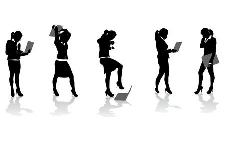 personne en colere: les gens d'affaires avec ordinateurs Illustration