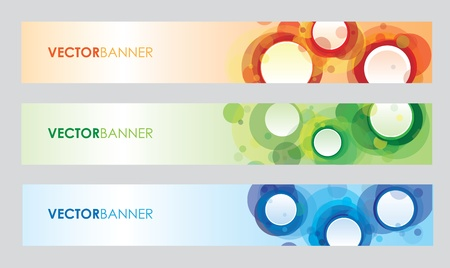 a set of circle banners Stock Vector - 9830176