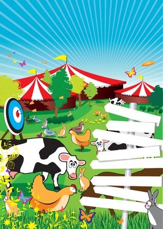 fun fair: a country fair background