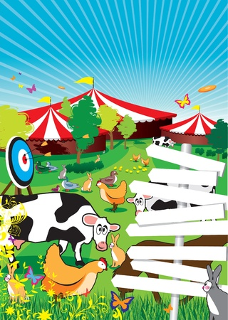 country park: un fondo de Feria de pa�s