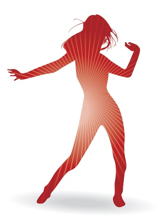 a dancing woman silhouette Stock Vector - 9830136