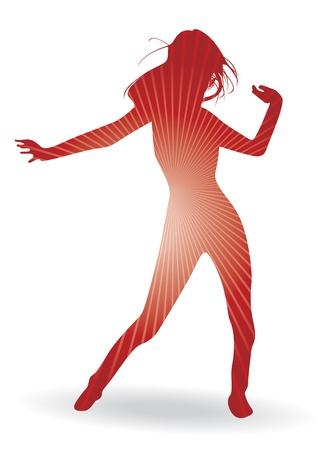 flexible woman: una silueta de mujer bailando