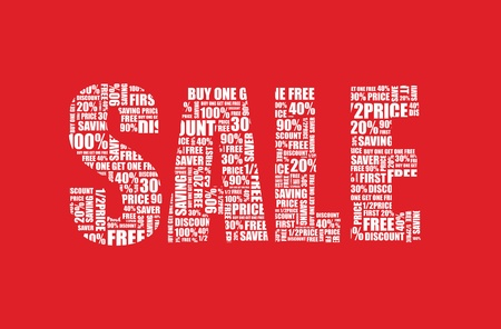 a red sale sign Stock Vector - 9830157
