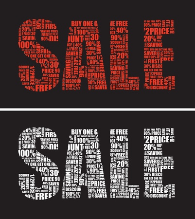 two sale signs Stock Vector - 9830172