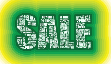 layers of a sale sign Stock Vector - 9830159