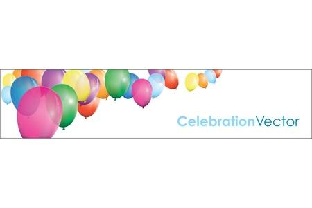 balloon banner Vector