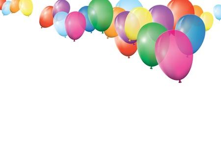 globos de cumplea�os: banner de globo Vectores