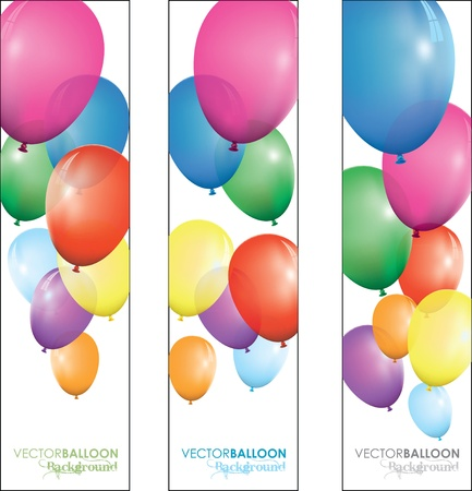 balloon banners Stock Vector - 9930937