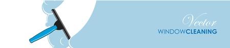 cleanness: finestra di pulizia bandiera Vettoriali