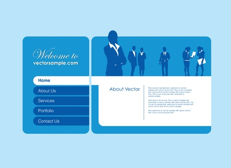 man and banner: a business people website banner Illustration