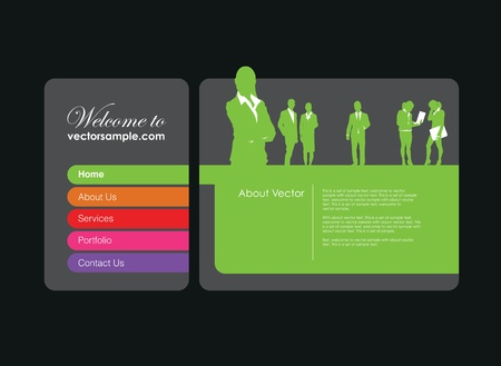 a business people website banner Illustration