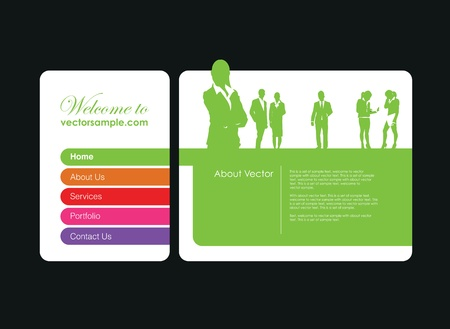 a business people website banner Stock Vector - 9930941