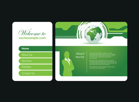 a business people website banner Vector