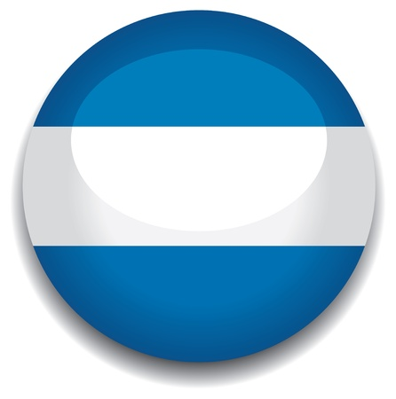 argentina flag in a button Illustration