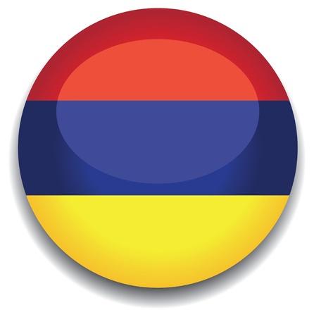 armenia: armenia flag in a button