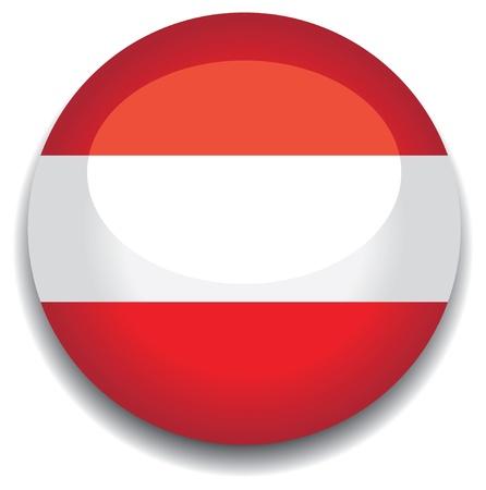 austria flag in a button Stock Vector - 10230200